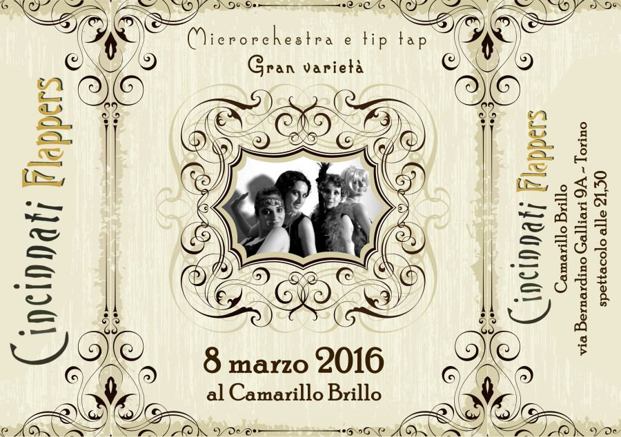 8 Marzo: Le Cincinnati Flappers a Torino!