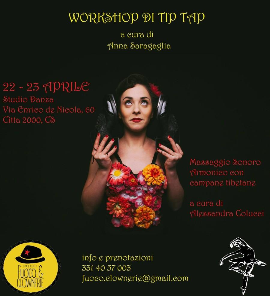22 e 23 Aprile: Stage di Tip Tap a Cosenza
