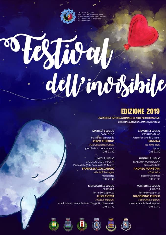 11 Luglio: Festival dell'Invisibile, Mantova